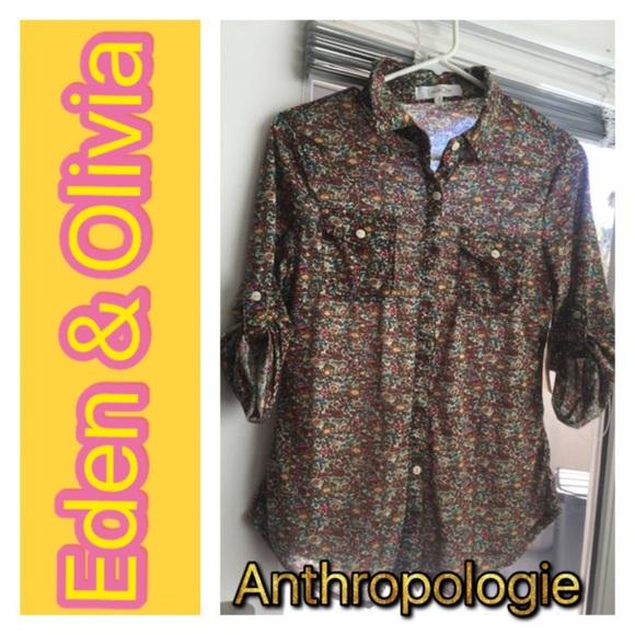 02468c4b30e0f Floral print Eden   Olivia button down blouse 👚