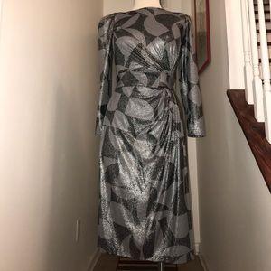 Vintage Rimini Grey Black Disco Dress Size 6😘😘