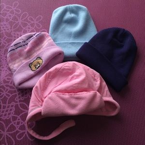 Other - Girls beanies, set of 4