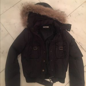 BEBE FITTED DOWN JACKET