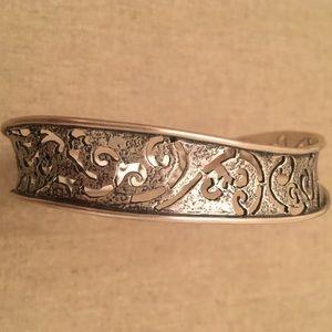 Silpada Wavy Filigree Bangle Bracelet