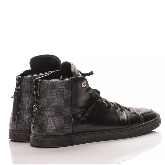2ef09efef43 Louis Vuitton Damier calfskin Graphit Mens sneaker