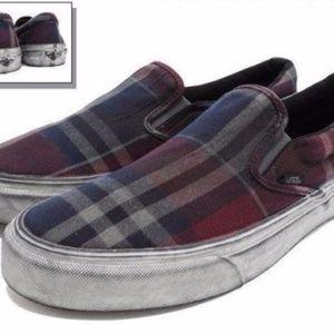 7f1904af0bd7fb Vans Shoes - VANS Classic Slip On CA Overwashed Plaid Size 11