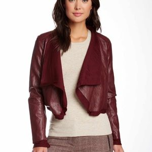 Jackets & Blazers - Final price ✂️ Cute faux  Leather Draped jacket!