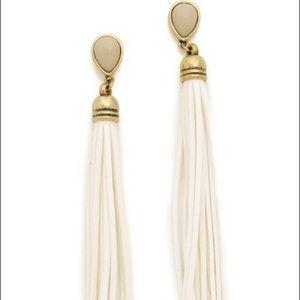 Adia Kibur leather tassel earrings