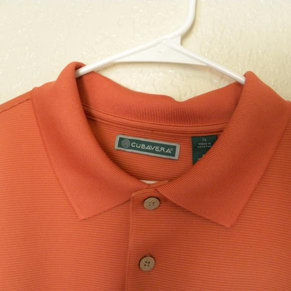 21323cef4 Cubavera Shirts | Mens Polo Shirt Essential Xl Orange | Poshmark