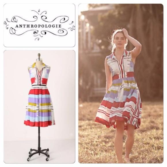 e2acdf24f8 Anthropologie Dresses   Skirts - ANTHROPOLOGIE Chromatic Canvas Shirt Dress