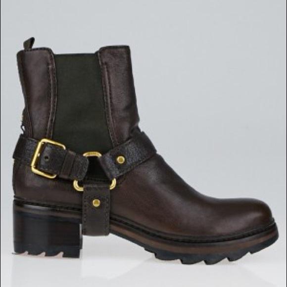 Prada Leather Biker Boots Cheap Sale Cheapest Price Big Sale For Sale Cheap For Sale sFDiQw2