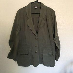 XCVI army green jacket/ blazer