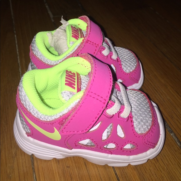 Nike Shoes | Nwot Baby Girl Size 2c Pink Yellow | Poshmark