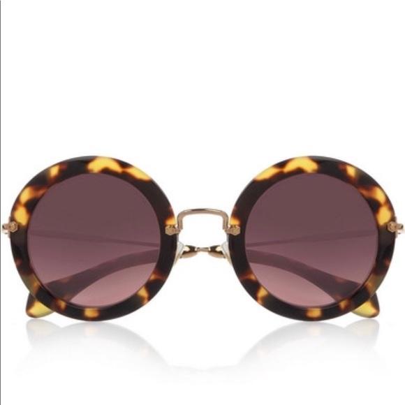 c10a913a7b1a Miu miu Round tortoise sunglasses. M 59f3cb0b6d64bc5a6a002825. Other  Accessories ...