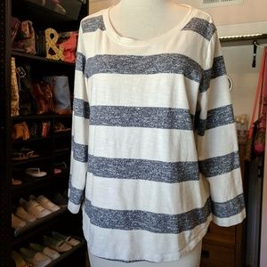 Loomknit Sweatshirt in Stripe J. Crew L striped