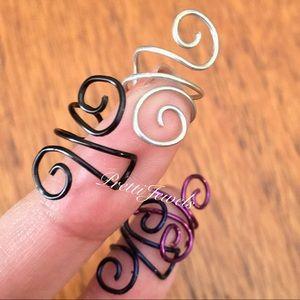 4 Swirly Wire Ear Cuff Earrings