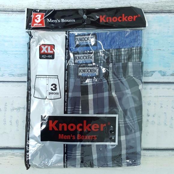 7cc249feeb83 Knocker Underwear & Socks | Blue Plaids Boxers Shorts Mens Xl | Poshmark