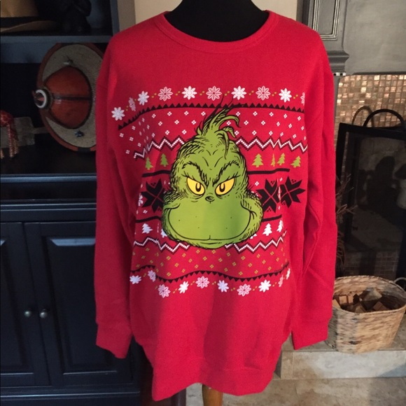nwt grinch ugly christmas sweater size large - Grinch Ugly Christmas Sweater