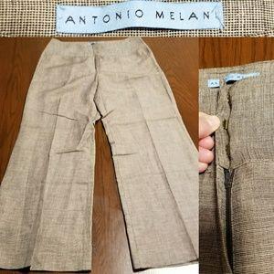Antonio Melani slack, Brown tweed NWOT size 6