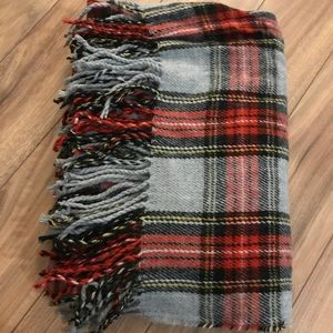 ASOS cozy and large blanket plaid scarf
