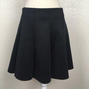 Topshop Raw Edge Skater Scuba Skirt