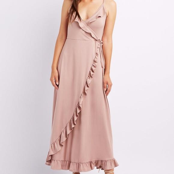 727755d8e0 Charlotte Russe Dresses | Nwt Blush Ruffle Knit Maxi Dress | Poshmark