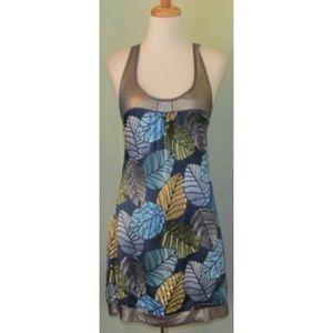 Custo Barcelona 2 Dress leaf print sequins S 4