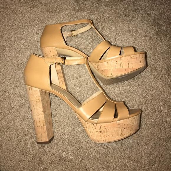 07d75fb4d MICHAEL Michael Kors Shoes | Michael Kors Mercer Cork Platform ...