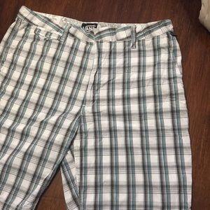 Vans Shorts Plaid Pattern Men's Size 36