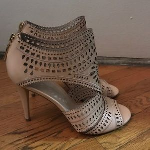 "Aerin ""Lia"" Lasercut Heeled Sandal bootie"