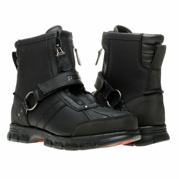 Polo Conquest Hi Ii Black Leather Boots