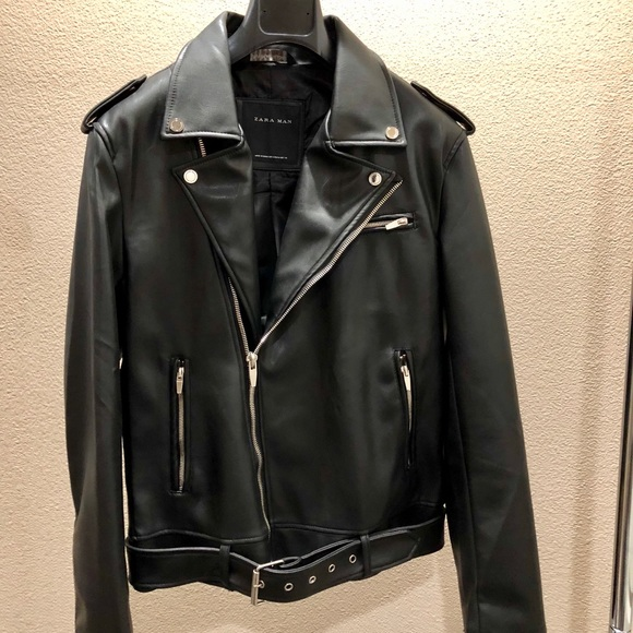 bccba395 ZARA MAN FAUX LEATHER BIKER JACKET: Med 0706/346. M_59f3dc77d14d7b0e30006ecf