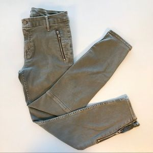 Mother Crop Muse Zip Jeans in Blow Out