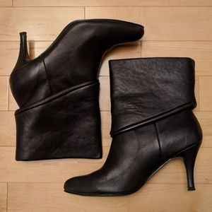 Urban Outfitters Brown Leather Foldover Booties