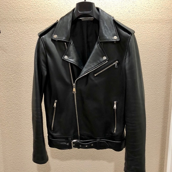 9e03cf57 ZARA MAN GENUINE LAMBSKIN LEATHER BIKER JACKET. M_59f3e2b86a58304483008ec7