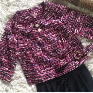 Jackets & Blazers - lilly pulitzer • pink peter pan collar jacket