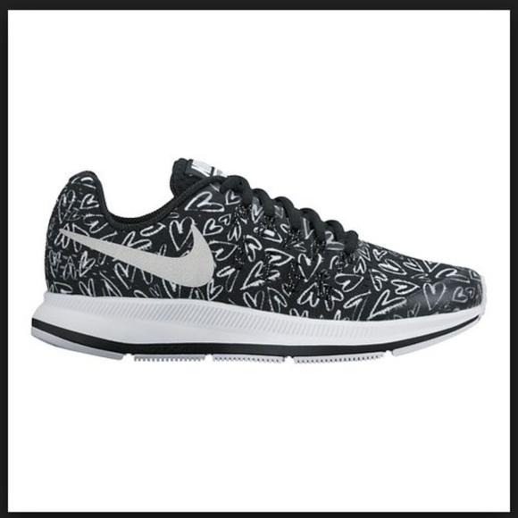 Nike Kids Zoom Pegasus Black Heart Sneakers