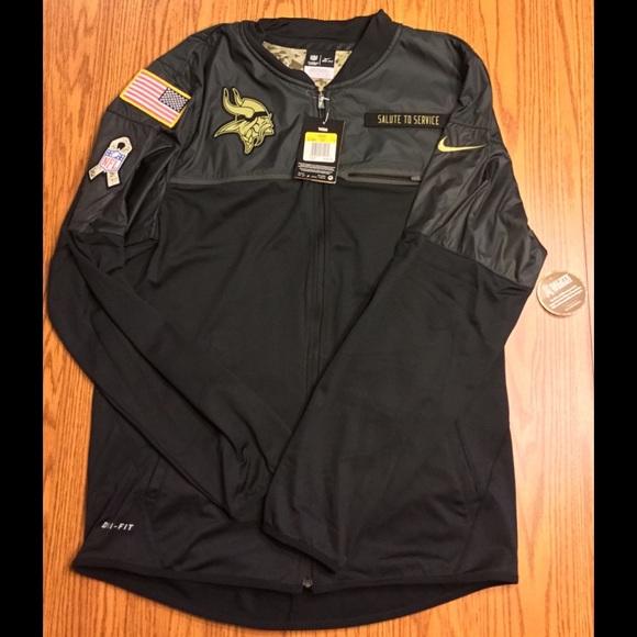 big sale 2fe9b 61638 Nike MN Vikings Salute To Service Hybrid Jackets NWT