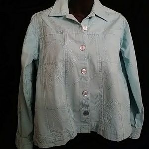 Studio Works embroidered denim jacket-sz SP