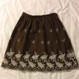 Chocolate a-line skirt - Isaac Mizrahi for Target
