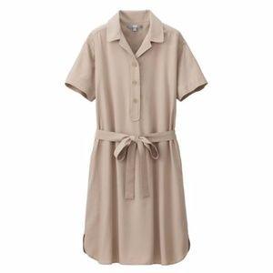 UNIQLO Beige Rayon Wrap Dress (S)