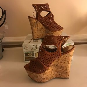 Body central brown sandals heels Us size 8