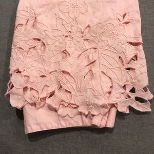 NWOT Gorgeous Ivy & Moon pink cut out floral skirt