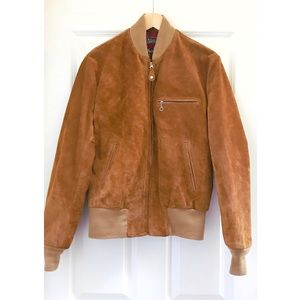 5b5da0880 {Lucky Brand} Men's Suede Bomber Jacket