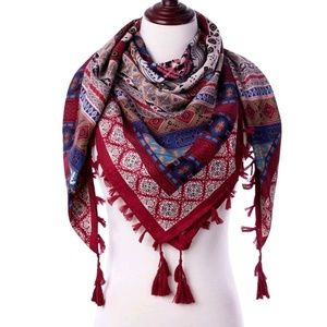 Women's Scarf - Red