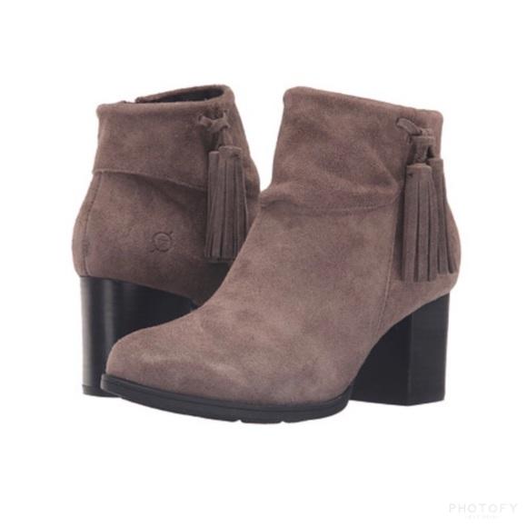 19d9e75ef9c Born Mauvide Tassle Ankle Boots