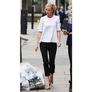 Black ABS dress cropped pants size 6