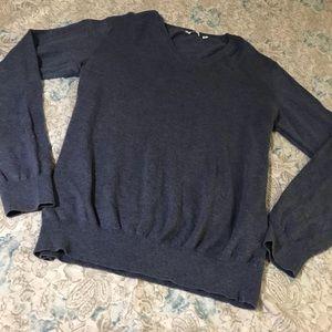 Uniqlo Dusty Blue Cotton Cashmere Sweater
