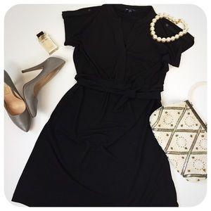 {{ Gap }} Slinky Military Style Little Black Dress