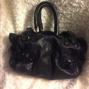 Kenneth Cole New York Black Leather Bag