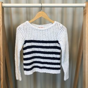 Rebecca Taylor Striped Knit Sweater