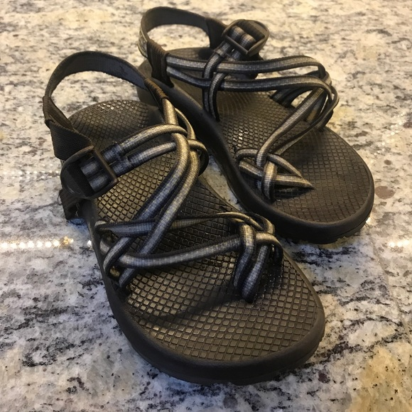ff2fd970aaa7 Chaco Shoes - CHACOS Brown and Gray 3 strap sandals