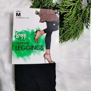 LEGGS CONTROL TOP OPAQUE LEGGINGS TUMMY SLIMMING